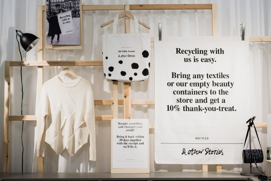 Recycle old clothes and discarded textiles — instead of throwing them away.